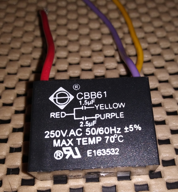 Capacitor for WP Ceiling Fan Blog